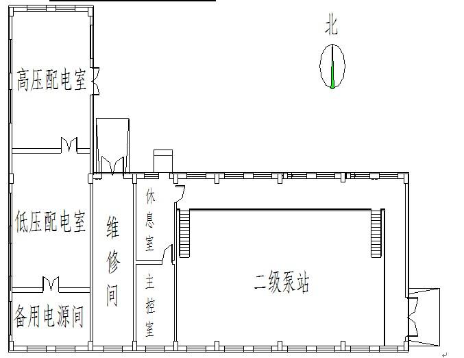 二级泵站课程设计平面图