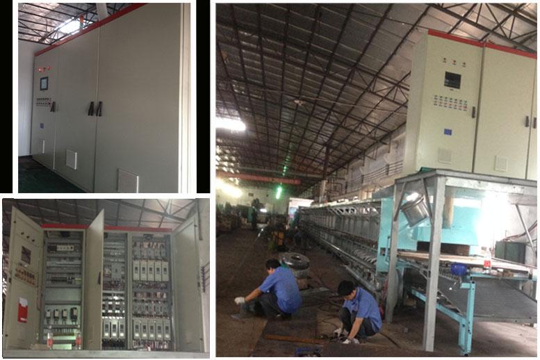 工件的热处理是机械加工过程中的重要工序之一,热处理过程通常是基于热处理炉完成的产品生产或加工过程的重要环节,稳定和精确的控温系统是热处理炉工作质量的保证。目前大多数热处理车间的电炉温度控制仍在使用电子电位差计(圆图表)和交流接触器,从准确度、控温水平及自动化程度等各方面均难以满足现代产品生产的要求;部分采用智能仪表的电炉,尚存在仪表操作复杂、易出差错的问题,在一定程度上限制了企业的发展。因此,热处理行业电炉控制系统迫切需要进行技术改造,引入现代测控技术,提高工艺装备水平。