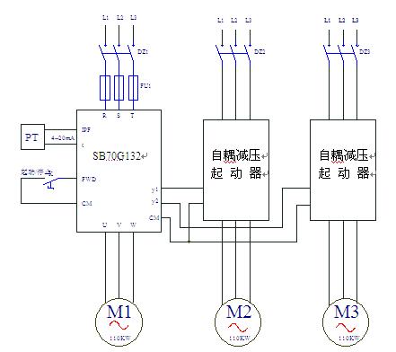 第二和第三台的氢压缩机可用自耦减压起动器人工起动/停止.图片