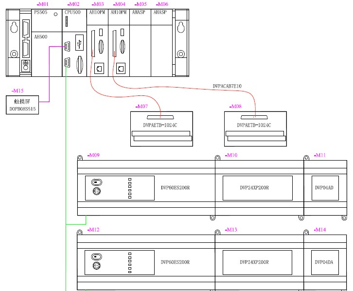 编码器与台达plc接线图