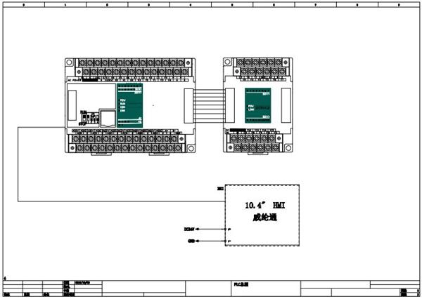 1电气系统分布        本电气系统有hmi和plc及外围传感器,执行电机