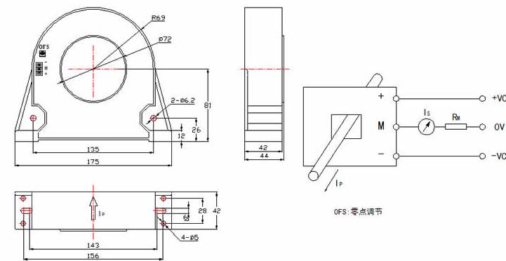产品描述:      应用霍尔效应闭环原理的电流传感器,能在电隔离