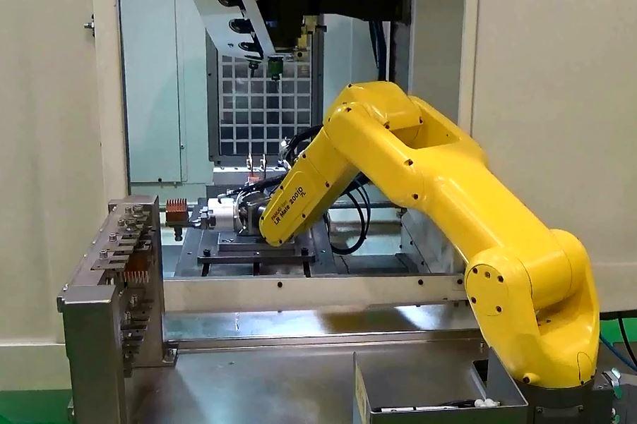 铜电极加工自动上下料(中国自动化网)