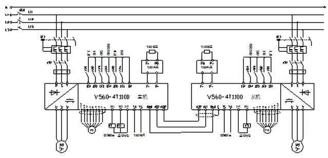 主从变频器主回路原理图