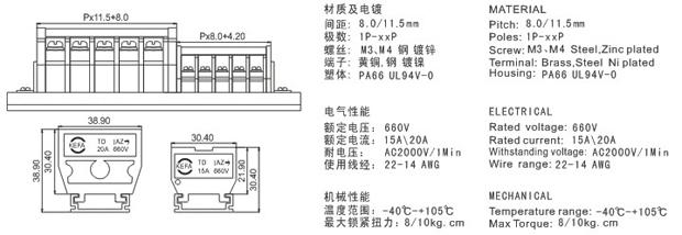 额定电压/电流:660v