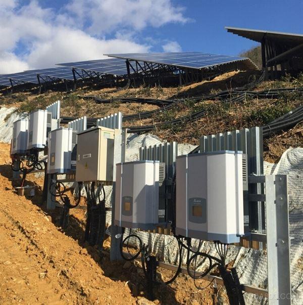 """""""台达赤穂节能园区""""采用17,256片太阳能电池模块,链接共185组台达"""