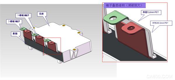 电动汽车 光伏发电 电控系统电容母线集成方案 高频寄生电感