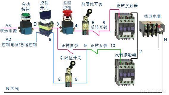 普通吹灰器采用接触器控制的控制回路