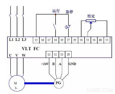fc300系列变频器闭环速度控制调试步骤