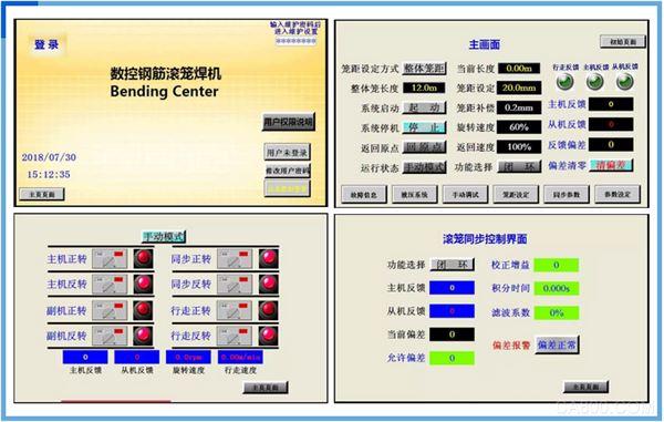 鋼筋滾籠焊機,數控系統,阿爾法,觸摸屏,PLC,變頻器,異步伺服系統