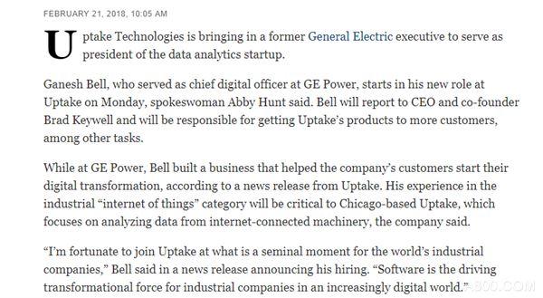 GE,Uptake