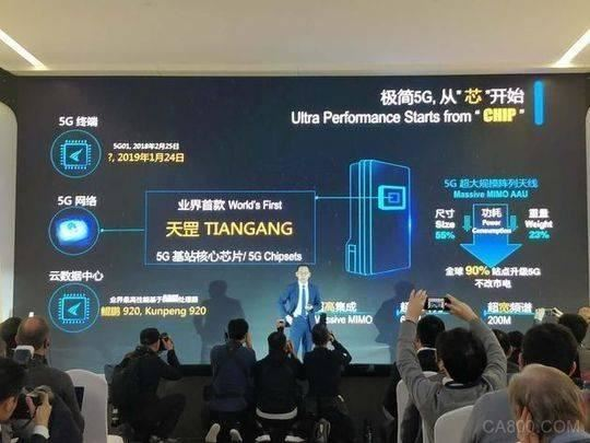 全球首款5G基站核心芯片,华为天罡