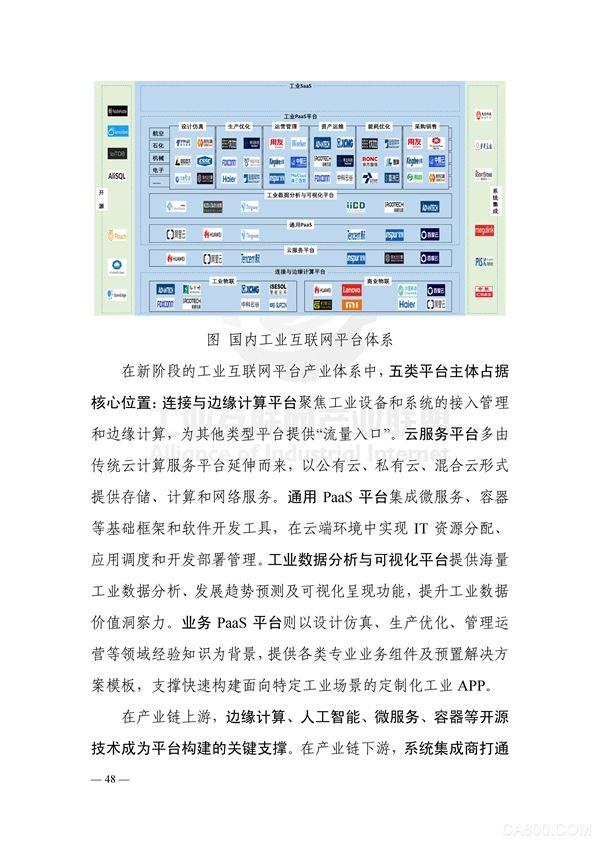 2019工业互联网峰会,工业互联网平台白皮书