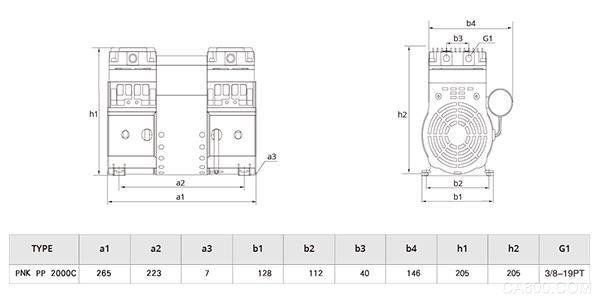 普诺克PNK PP 2000C微型压缩机
