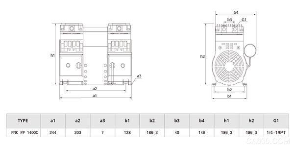 PNK PP 1800C搬运机专用活塞真空泵