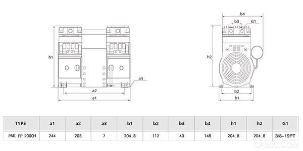 PNK PP 2000H分光机专用活塞真空泵