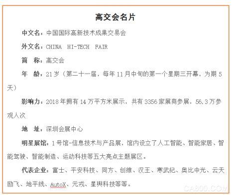 高交会,中国国际成果交易会,装备制造,新材料