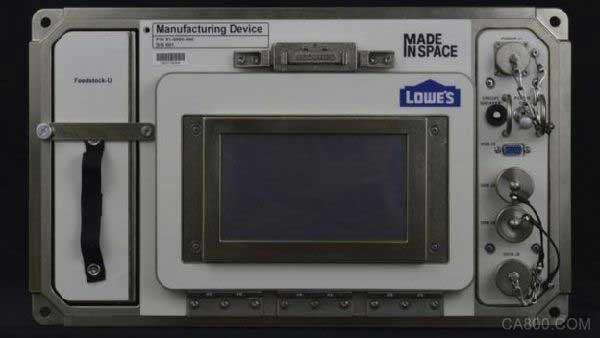 太空将迎来首部3D打印机