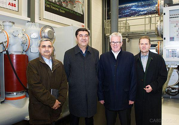 国家能源局局长参观ABB在苏黎世欧瑞康工厂