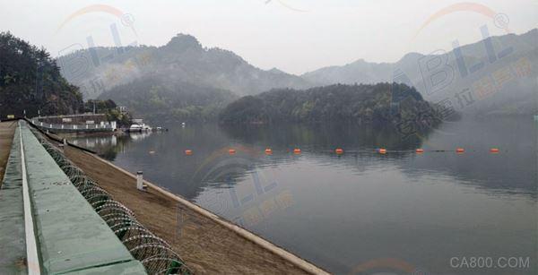 通济桥水库安装安布雷拉超声波农田水利流量计计算出水口流量