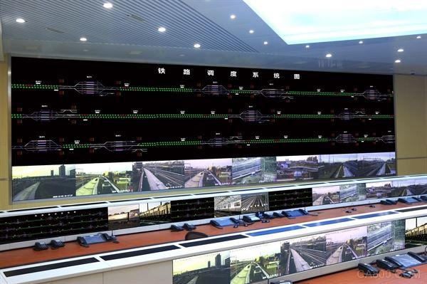 台达的激光DLP大屏幕显示系统服务铁路通辽站