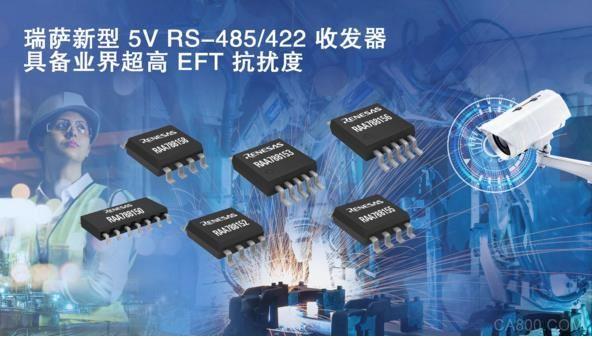 瑞萨电子推出具备业界超高EFT抗扰度的5V RS-485 422收发器产品家族