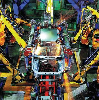 发那科机器人在上海通用东岳汽车大显神通