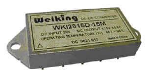 Weiking双路输出航空电源航天电源通信电源机载电源军用电源高可靠DC-DC电源模块WK302812D-15