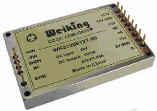 Weiking三路输出航空电源航天电源通信电源机载电源军用电源高可靠DC-DC电源模块WK3128515T-50