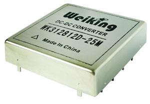 Weiking三路输出航空电源航天电源通信电源机载电源军用电源高可靠DC-DC电源模块WK3128512T-25