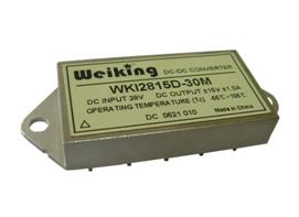 Weiking双路输出航空电源航天电源通信电源机载电源军用电源电源高可靠DC-DC电源模块WKI2812D-30