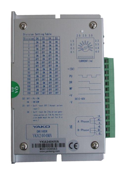 研控两相混合式步进电机驱动器YKA2404MA/YKA2404MB