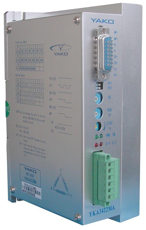 研控三相混合式步进电机驱动器YKA3422MA