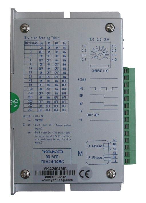 研控两相混合式步进电机驱动器YKA2404MC/YKA2404MD