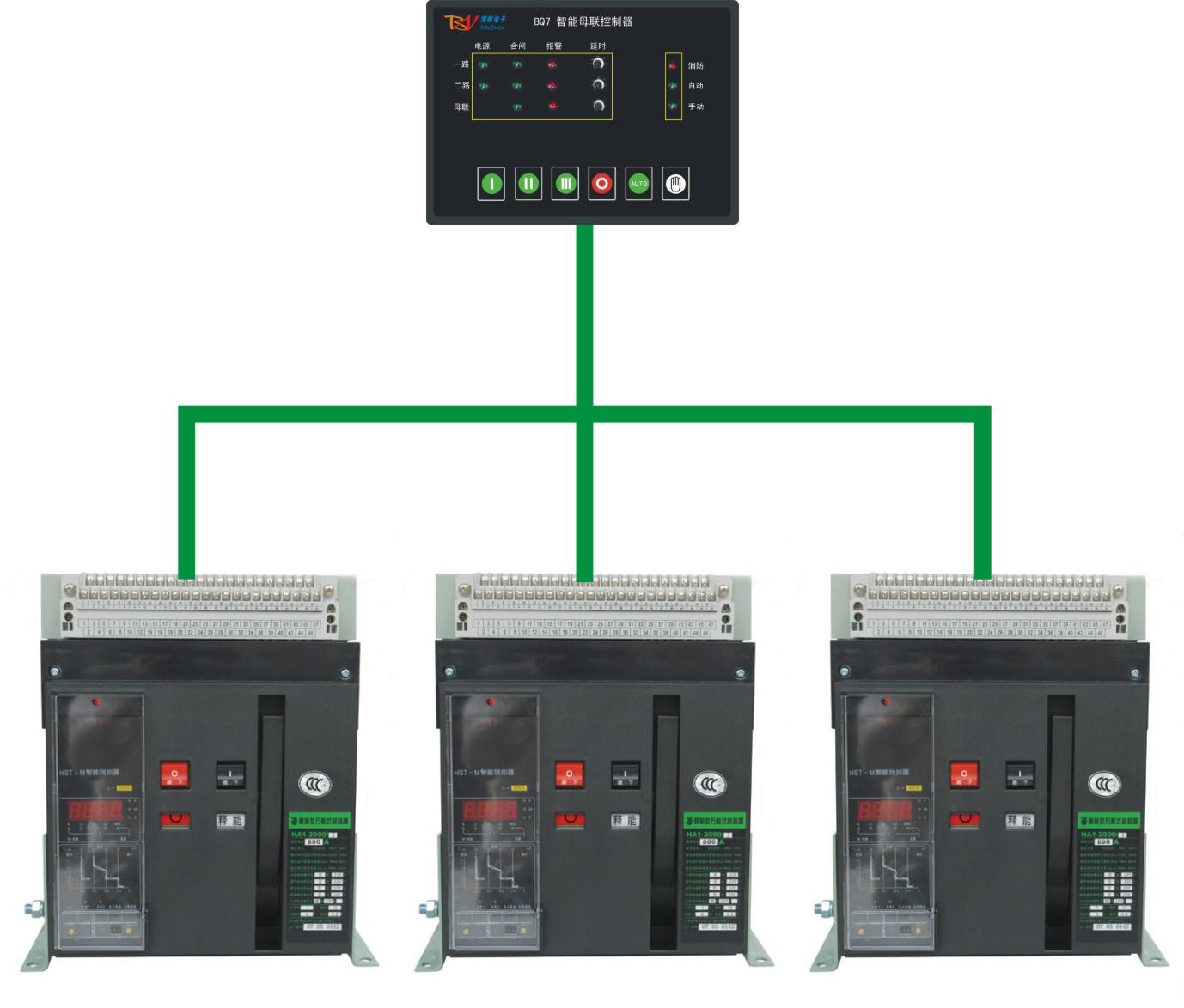 浙江母联控制器 框架式双电源控制器 双电源控制器