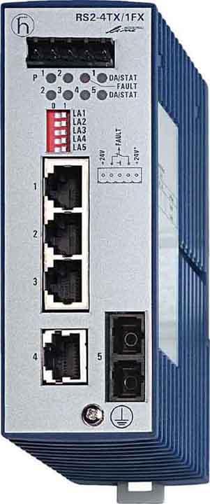 赫斯曼交换机RS2-4TX/1FX-STEEC