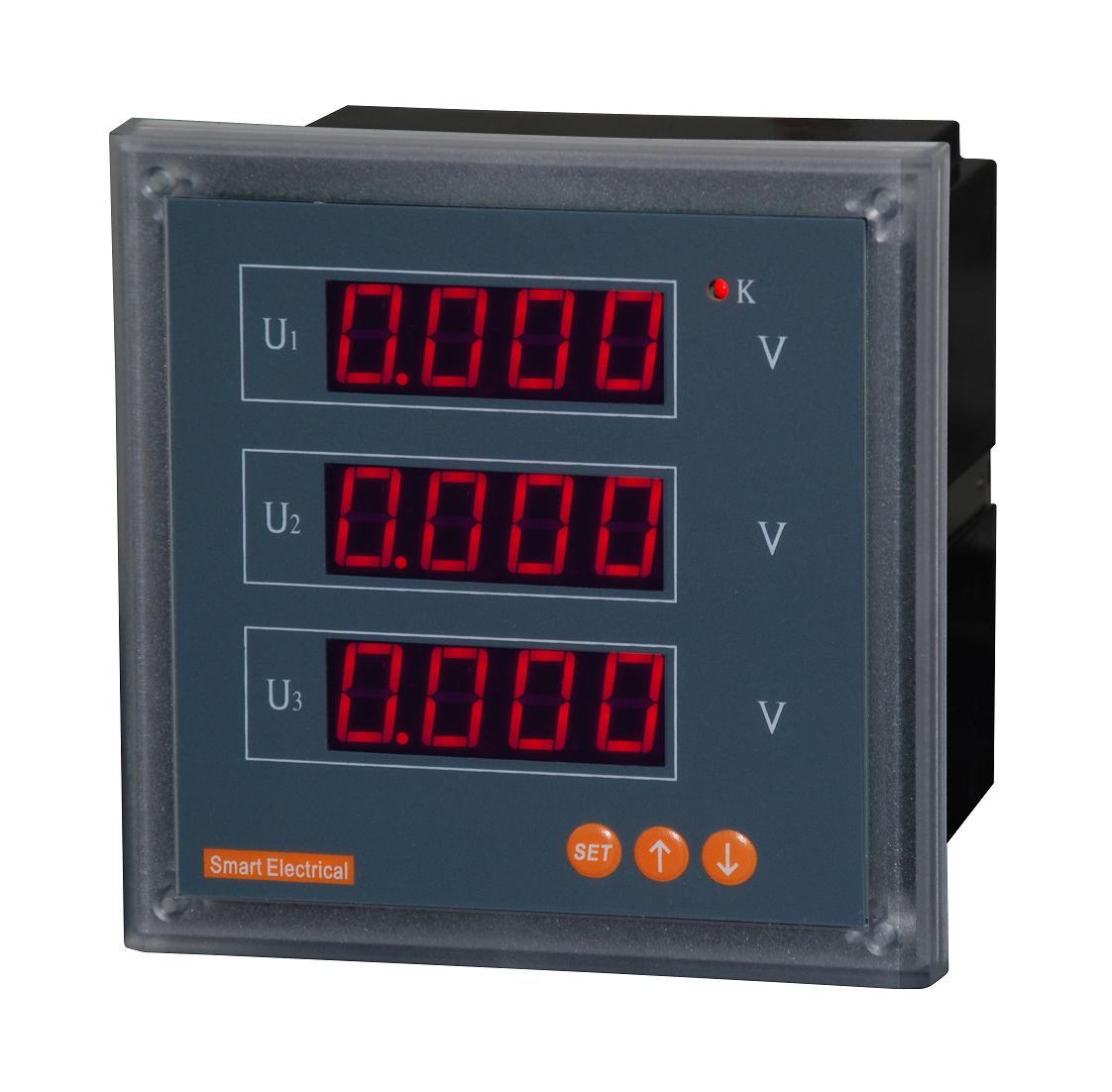交流电压表 三相电压表 数显 pz194u-9x4 三相表 数字