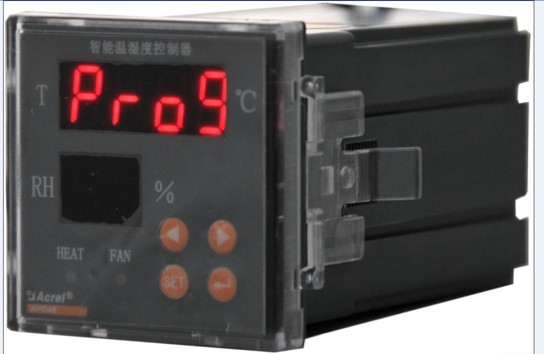安科瑞WHD48-11 1路温度1路湿度智能型温湿度控制器