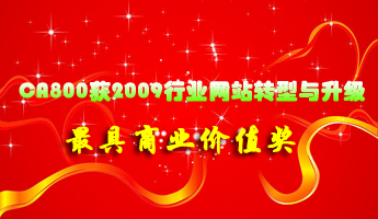 CA800获行业网站转型与升级最具商业价值奖