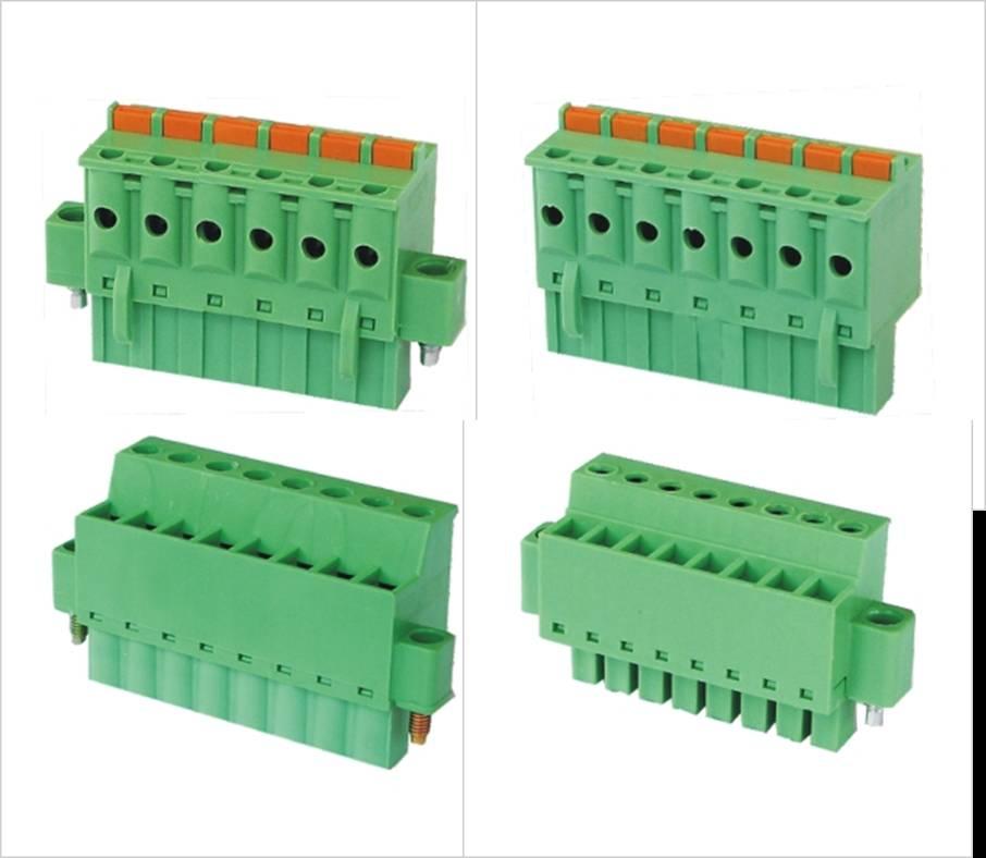 供应同向接线和拧(压)紧螺钉的插拔式接线端子