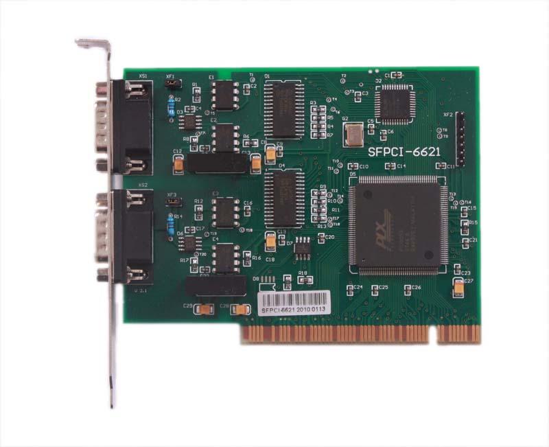 SFPCI-6621是一种隔离型CAN总线通讯板,可方便地应用于装有PCI 总线插槽的微机。PC操作系统可选用目前流行的 Windows 系列、Unix等多种操作系统环境。CAN是一种数字化总线通讯标准,采用总线仲裁方式进行网络管理,实时性很高,可保证系统对事件的响应,而且通讯可靠性高,CAN主要应用于可靠性要求价高的系统中。