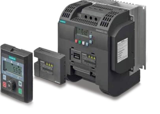 西门子V20变频器,是西门子最新推出的新型变频器,基本型变频器SINAMICS V20向小型OEM客户提供最适合的经济型解决方案。SINAMICS V20有四种外形尺寸可供选择(FSA~FSD),提供三相400V和单相230V进线两种规格,分别可覆盖0.12~3kW,0.37~15kW的功率范围。 西门子V20变频器 上海腾希(西门子授权代理商) 西门子驱动和自动化集团上海总代理和核心合作伙伴 凡我公司出售的西门子产品均享受西门子官方质保一年,一年内有任何质量问题免费提供换新或维修服务,不收取任何费用!希