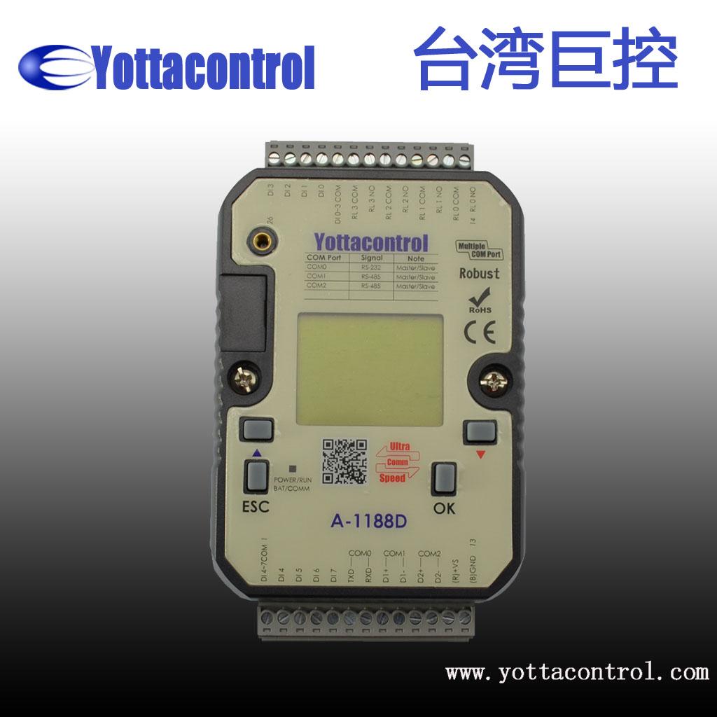 台湾巨控 A-1188D小型PLC  带显示屏
