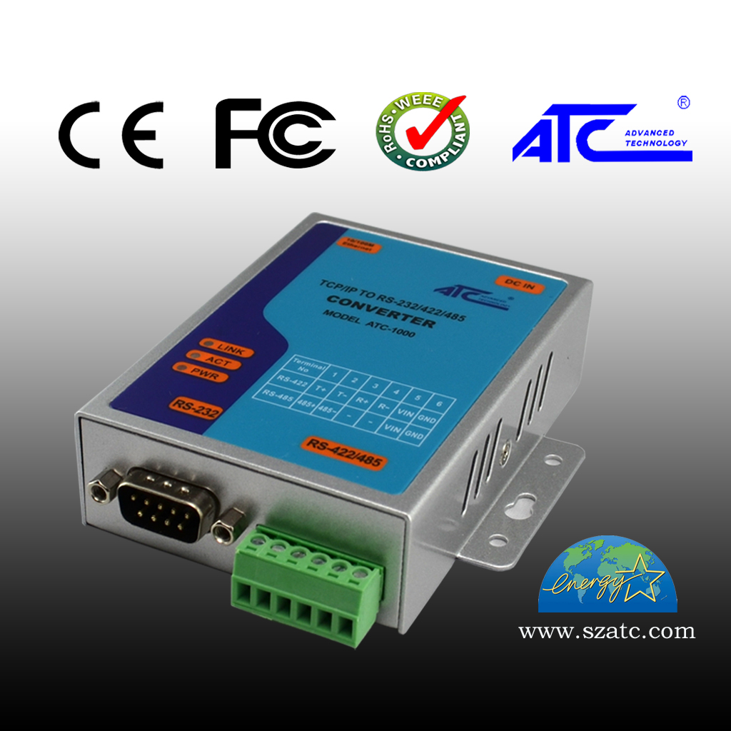 ATC-1000 10/100 TCP/IP转RS-232/485/422 低成本高性能