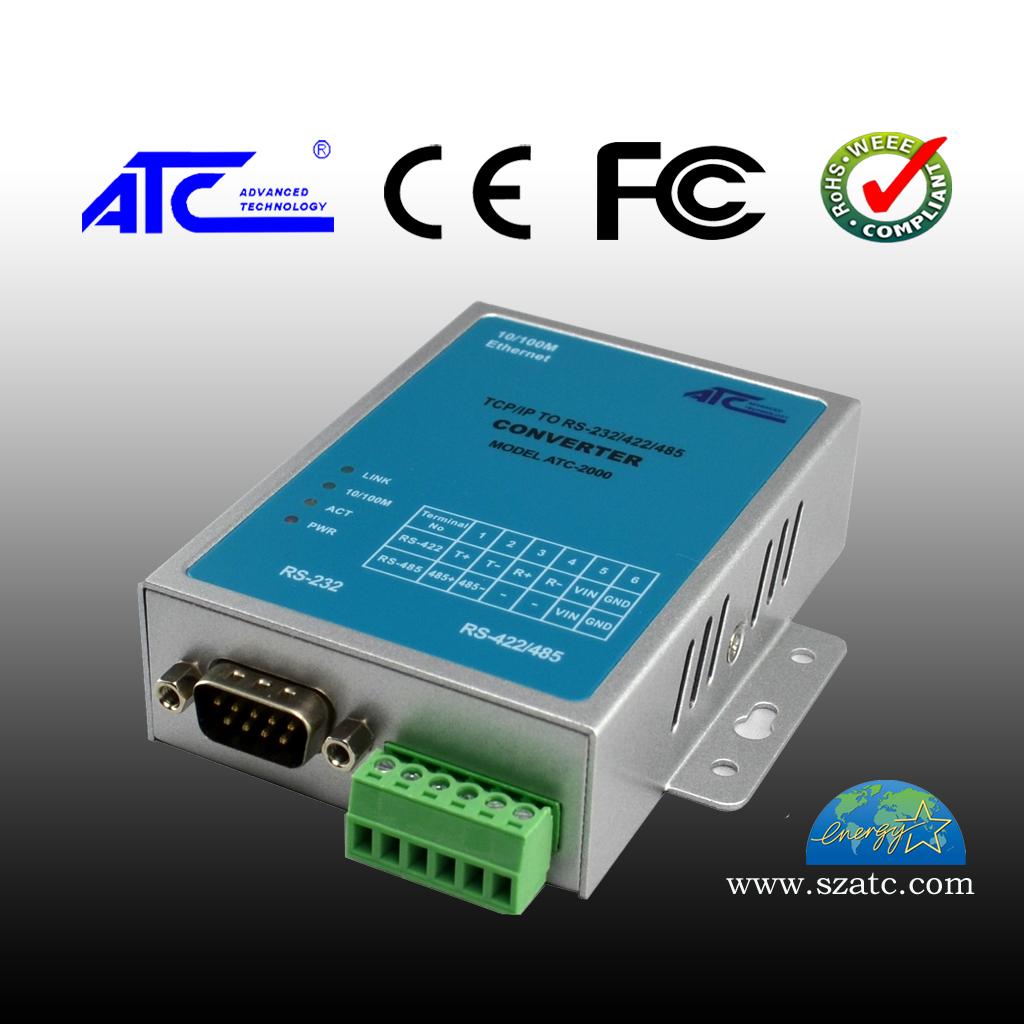 ATC-2000 10/100M TCP/IP转RS-232/485/422 串口联网服务器