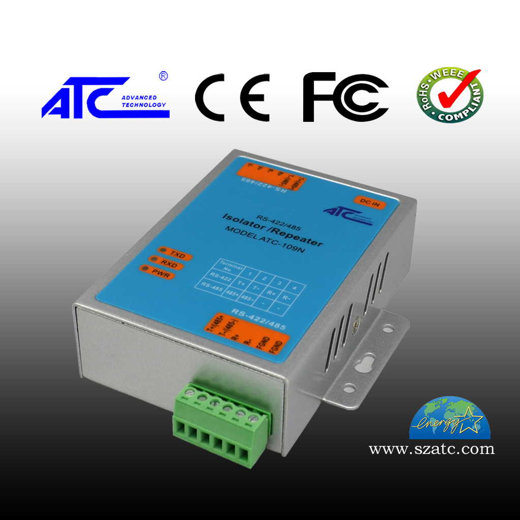 ATC-109N RS-422/RS-485中继器光隔离带 rs485转换器