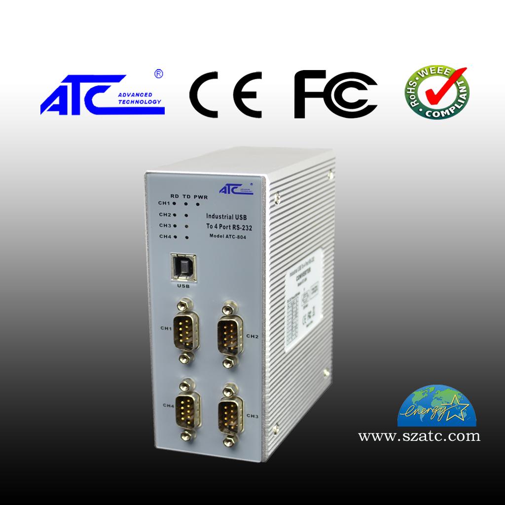 ATC-804 四口USB转RS-232集线器