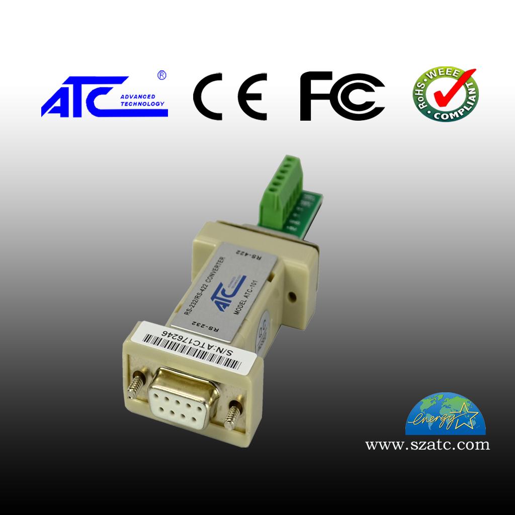 ATC-101 RS-232转RS-422(无源DB9)六位接线端子