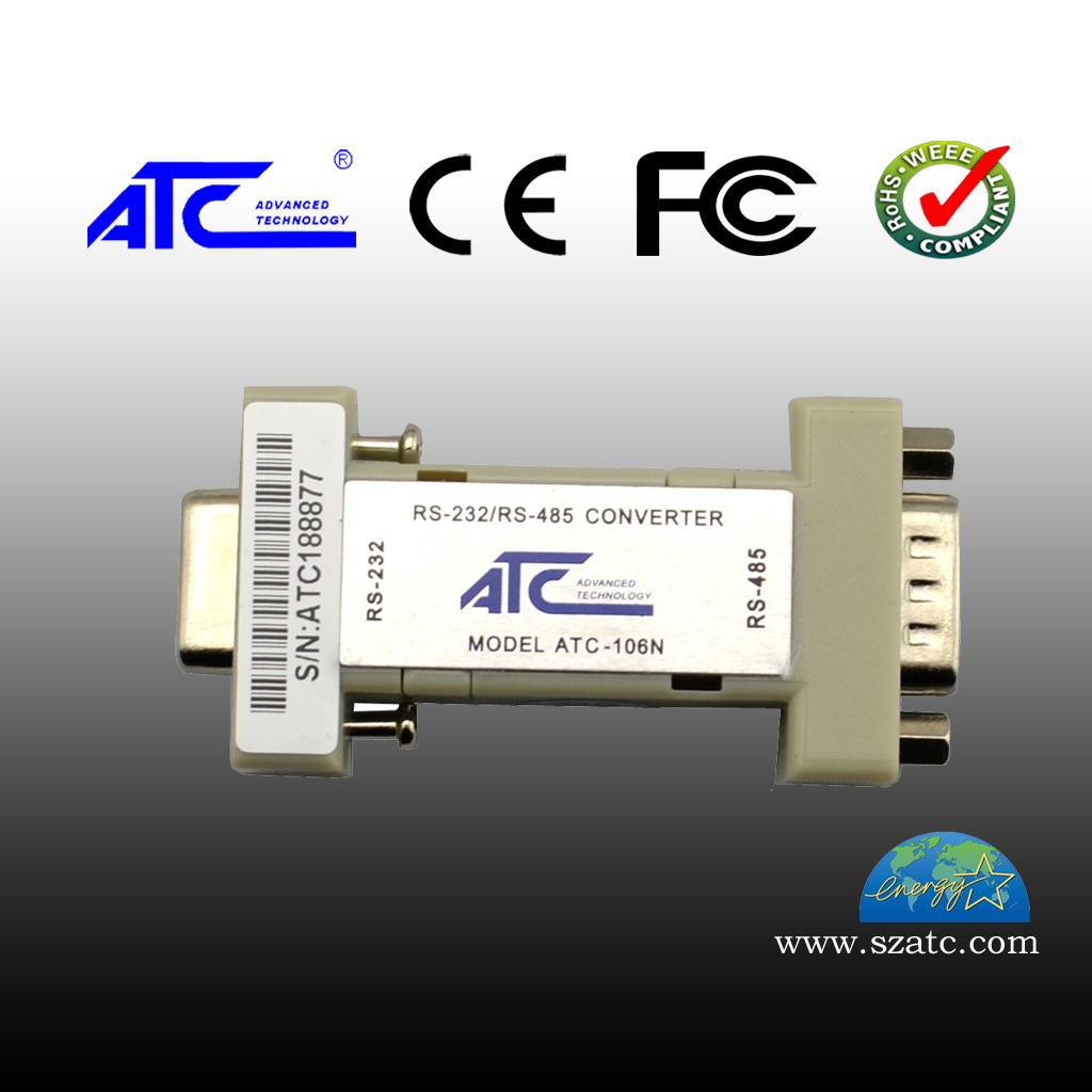 ATC-106N RS-232转RS-485(无源DB9)六位接线端子