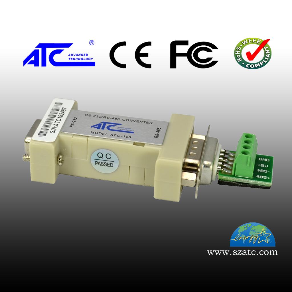 ATC-106 RS-232转RS-485(无源DB9)四位接线端子